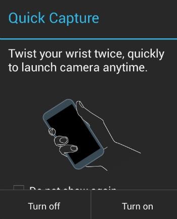 Moto X Camera Quick Launch