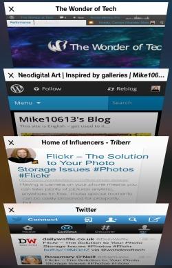Safari Tabs iOS 7