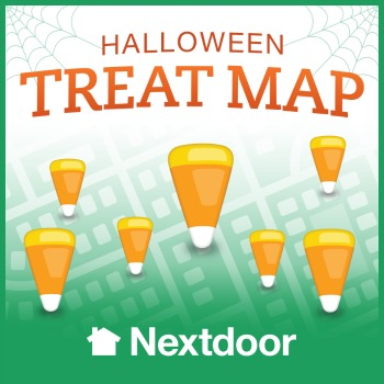 NextDoor Halloween Treat Map