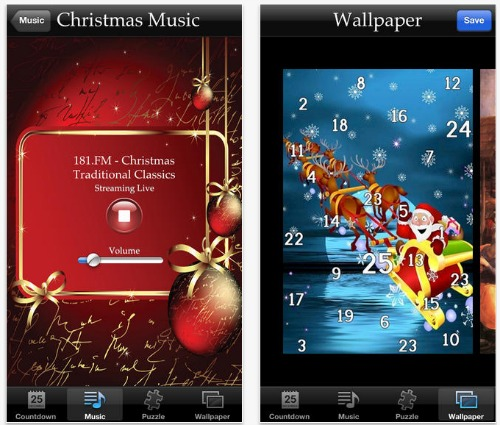 Christmas App iPhone iPad