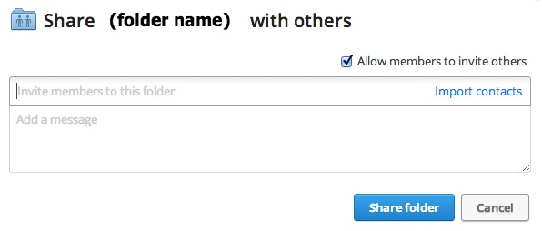 Adding People to Shared Dropbox folders
