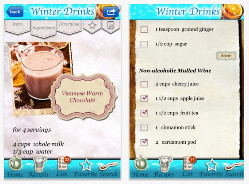 Christmas Drinks App iPhone
