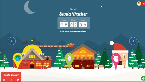Google Maps Santa Tracker Website and App