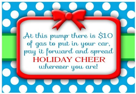 Random Act of Christmas Kindness Gas Pump