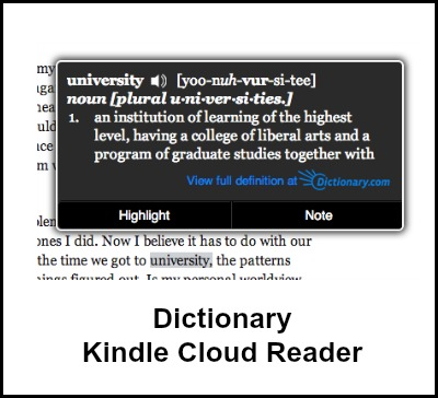 Kindle Cloud Reader Notes