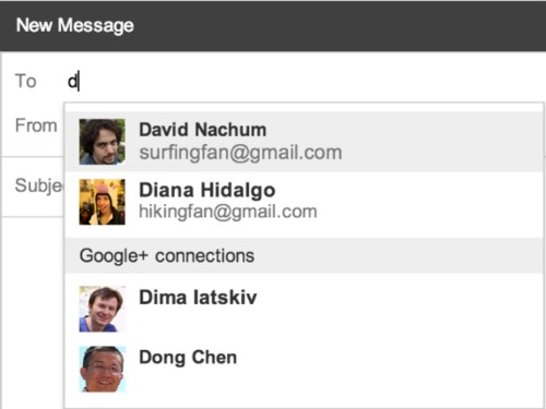Google Plus Contacts