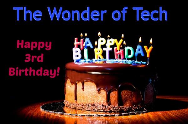 3rd Anniversary Wonder of Tech