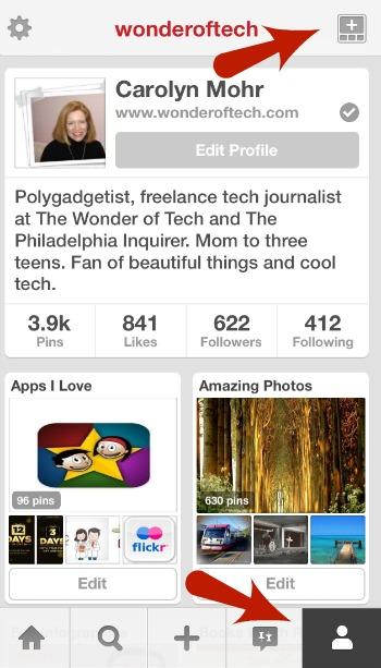 Pinterest Mobile App Create a Board