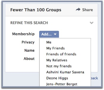 Facebook Groups Enhanced Search Friends
