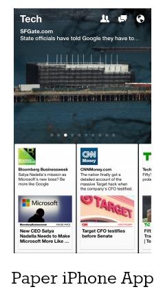 Paper App Facebook iPhone