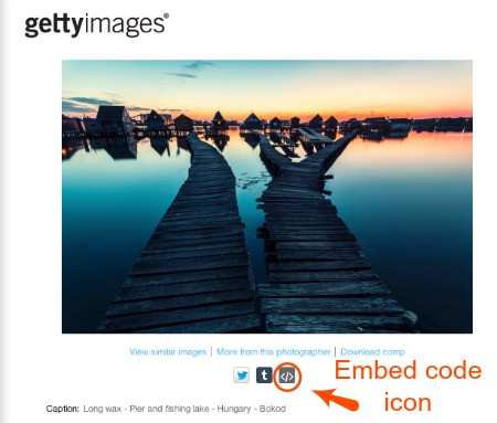 Getty Images Embed How To