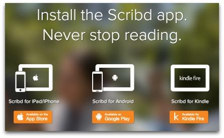 Scribd iPad Android Kindle Fire