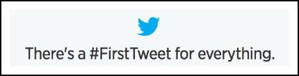 #FirstTweet