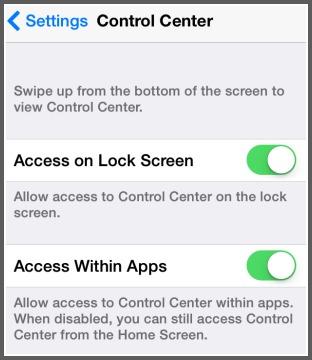Control Center Access
