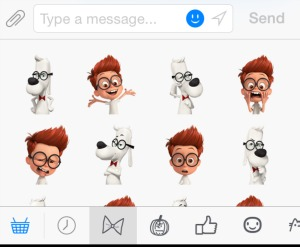 Facebook Mobile Stickers