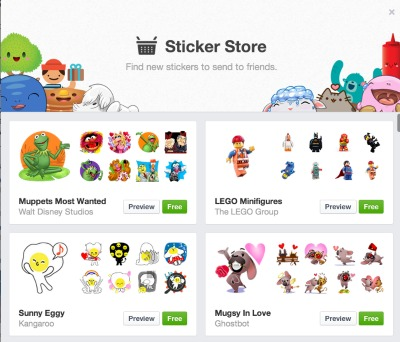 Facebook Stickers Shopping