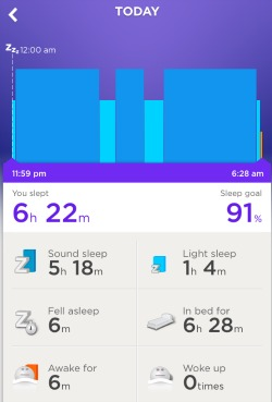 Jawbone Up Sleep Activity