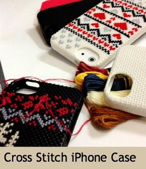 Cross-stitch iPhone Case