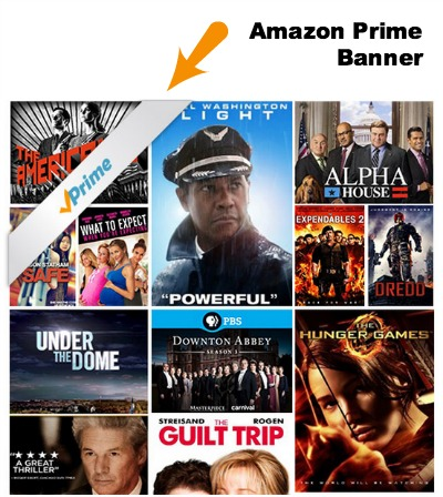 Amazon Prime TV and Movies Banner