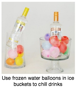 Frozen Water Balloons Ice Buckets
