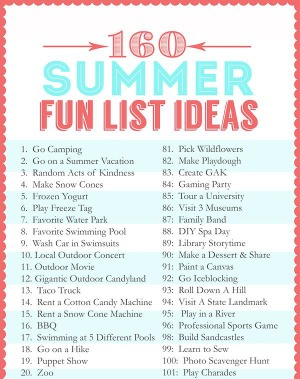 Summer Fun List Ideas Pinterest
