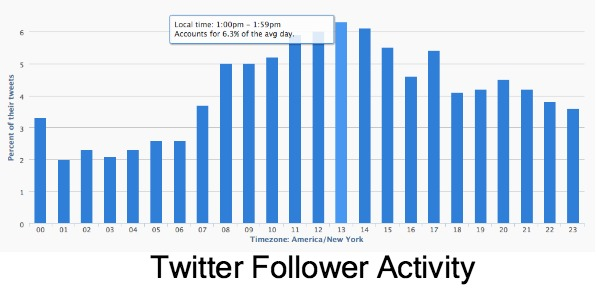 Hours of Twitter Follower Activity