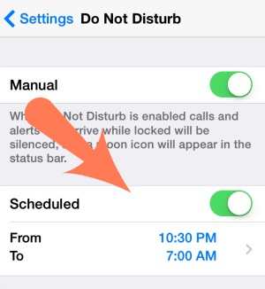 Do Not Disturb Times