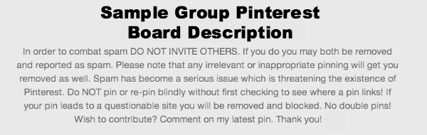 Invitation information Group Pinterest Board
