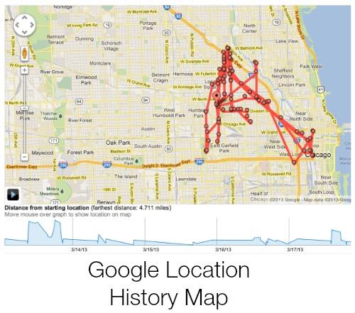 Google Location History Record