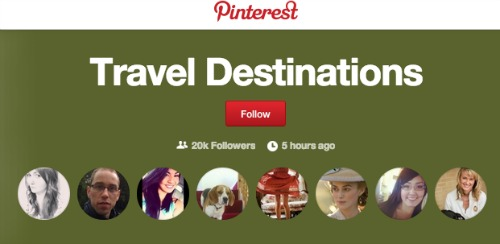 Follow Button for Interests on Pinterest