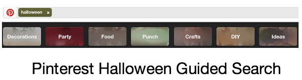 Pinterest Guided Search Halloween