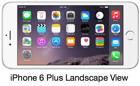 iPhone 6 Plus Screen Views