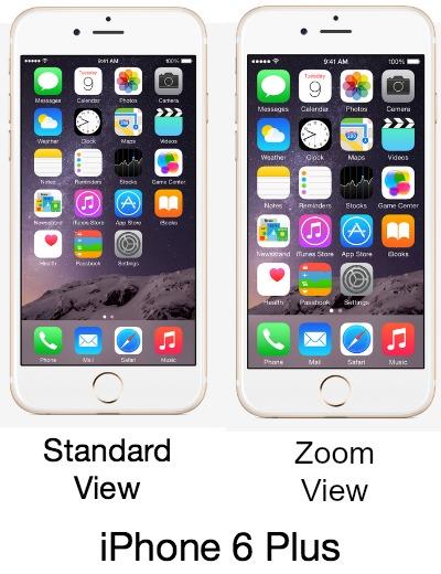 Zoom View iPhone 6 Plus