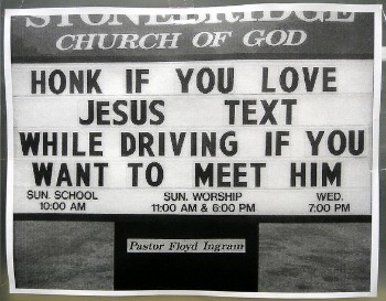 Jesus Saves Texting kills