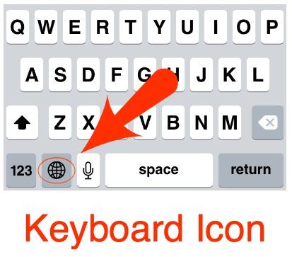 iPhone Keyboard Switching