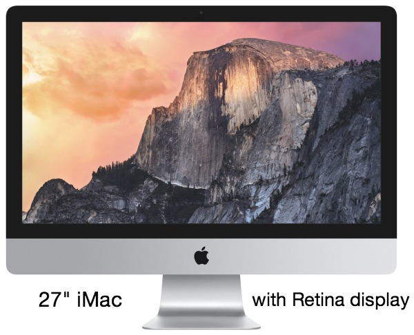 27 Inch iMac with Retina display