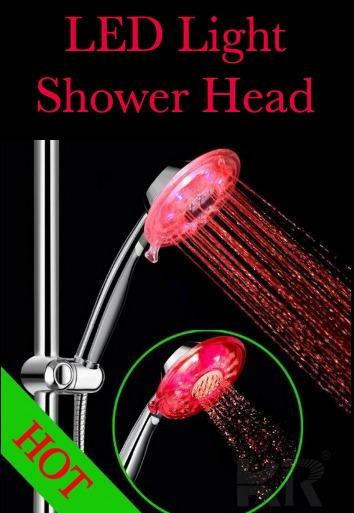 LED Light Showerhead