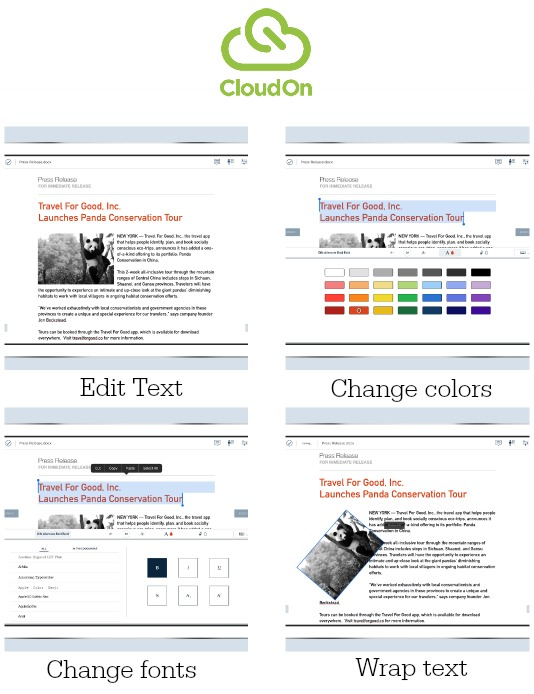 CloudOn Edits