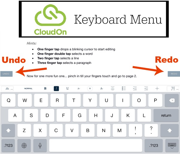 Cloud On Menu