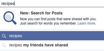 Facebook Search for Posts