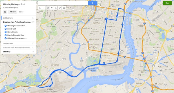 New Google My Maps Lets You Create Save And Share Custom: Google Maps Philadelphia Usa At Usa Maps