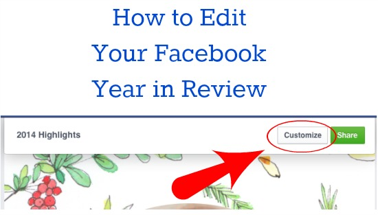 Customize Facebook Year in Review