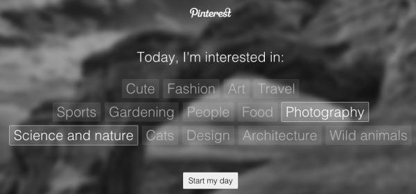 Pinterest Tab Subjects
