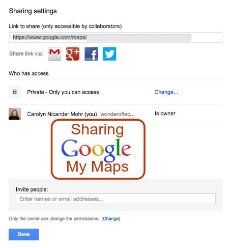 Google My Maps Sharing
