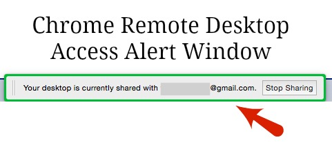 Google Remote Desktop Stop Sharing