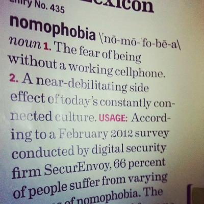 Nomophobia definition