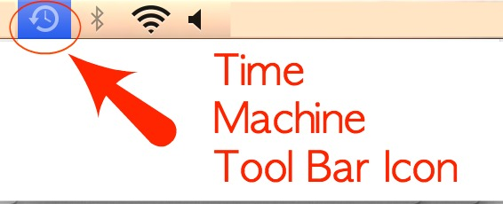 Toolbar Mac Time Machine