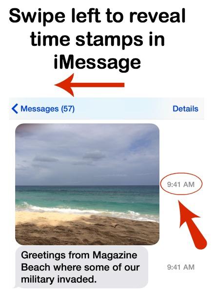 iMessage Time Sent
