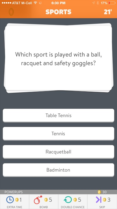 Trivia Crack Sample Question