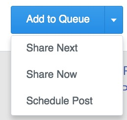 Buffer Scheduling Options
